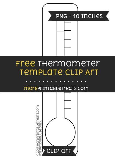 Free Thermometer Template  Clipart  Free Clipart Files