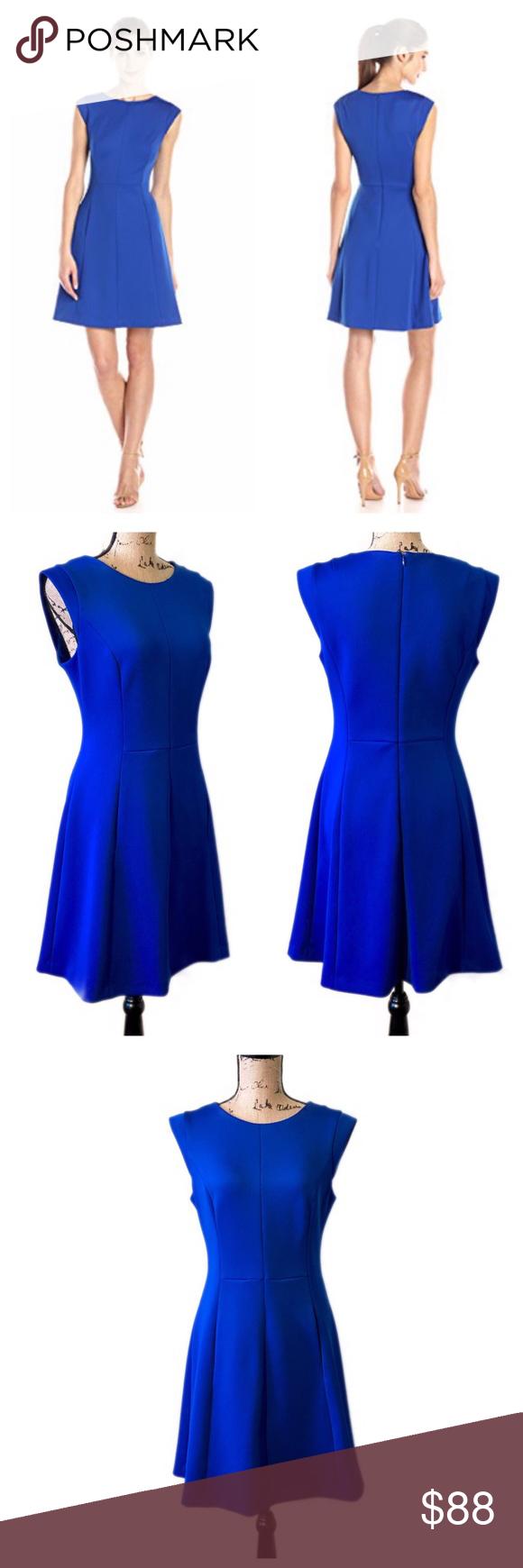 Vince Camuto Cobalt Royal Blue Fit Flare Dress Dresses Fit Flare Dress Clothes Design [ 1740 x 580 Pixel ]