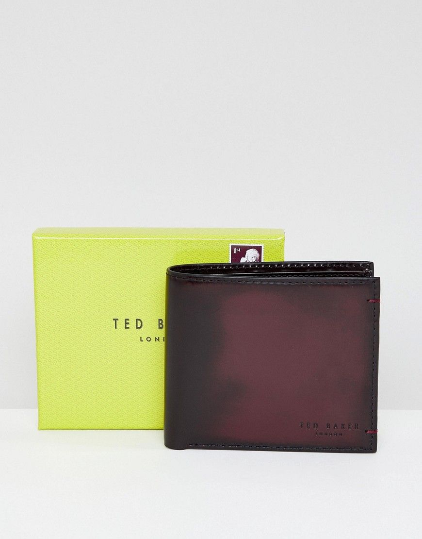 4648ea06bd19 TED BAKER GEEN COIN WALLET IN BURNISHED LEATHER - RED.  tedbaker ...