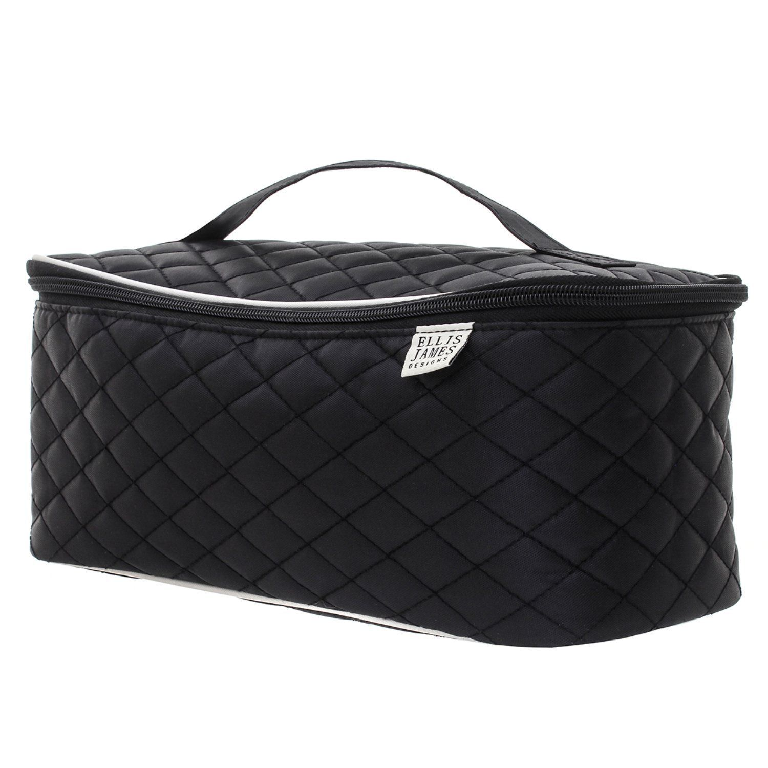 728c0f29c8f64 Ellis James Designs Large Travel Cosmetic Case Makeup Bag Organizer (Black)     Review more details here   Travel cosmetic bag