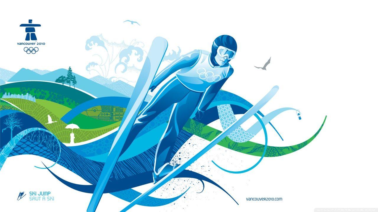 Ski Jumping Hd Desktop Wallpaper Widescreen High Definition 2010 Winter Olympics Ski Jumping Winter Olympics