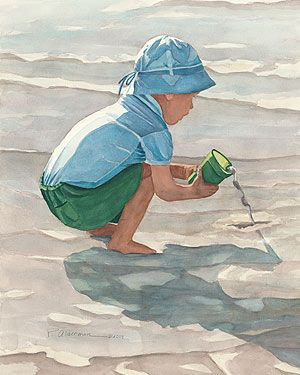 Paintings Of Or Related To Sand Castles Pouring Out Sand Castles