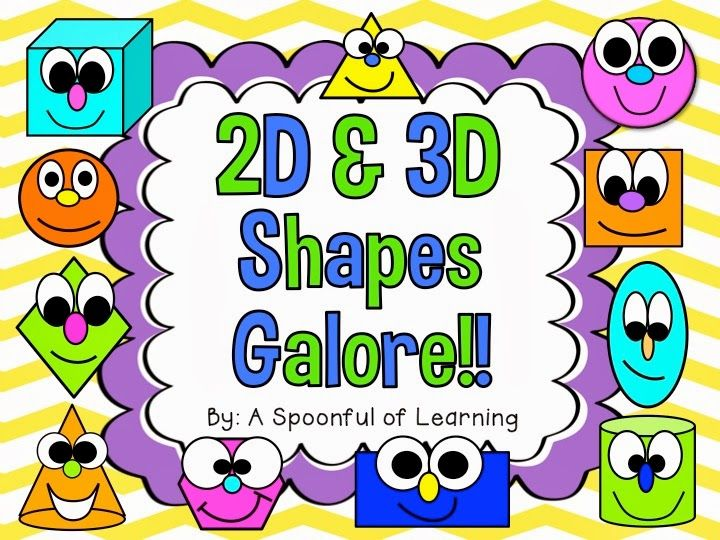 Shapes, Shapes, Shapes!! & FREEBIE! - A Spoonful of Learning