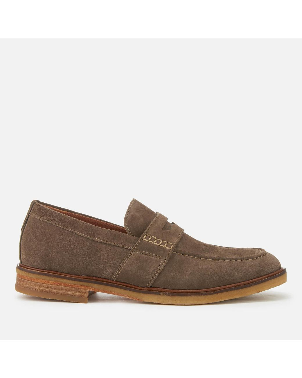 f5bb289090e Clarks - Gray Clarkdale Flow Suede Loafers for Men - Lyst