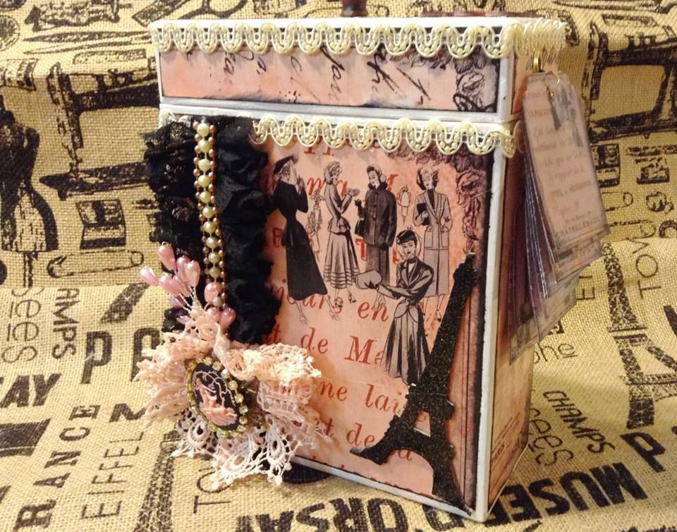 "A beautiful recycled project by DT Gladys using the ""Parisian Day Dream Journal Printable Kit"""