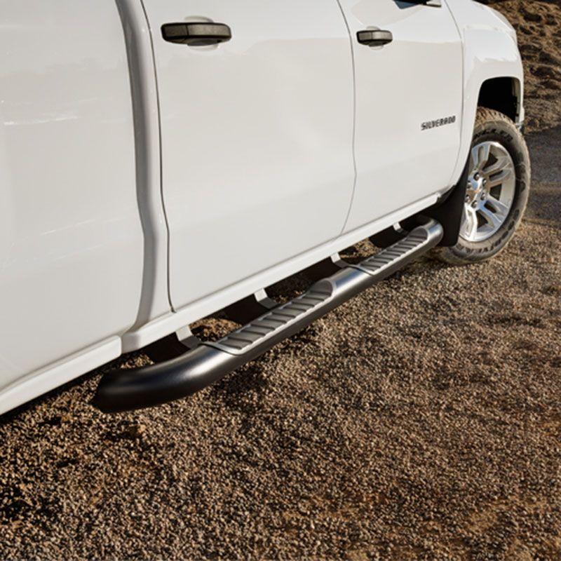2017 Silverado 1500 Double Cab Assist Steps, 4 Inch Round