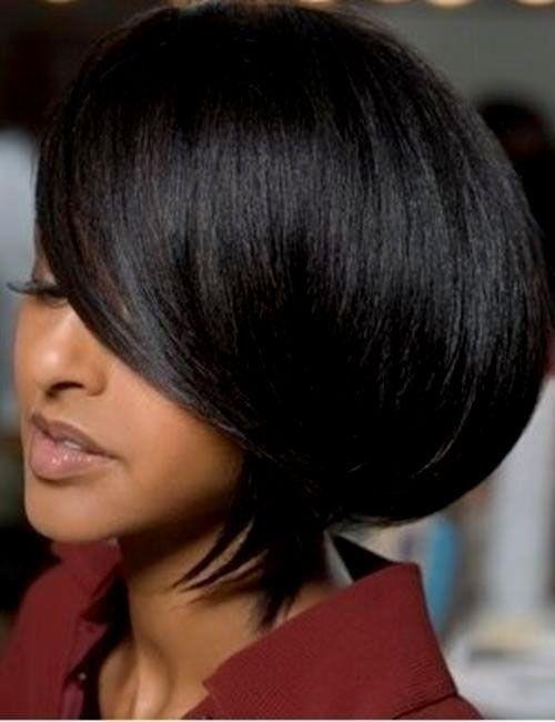 Short Bob Hairstyles For Black Women short bob hairstyle for black women Find This Pin And More On Bobs By Kikizdavis Long Bob Hairstyle For Black Women