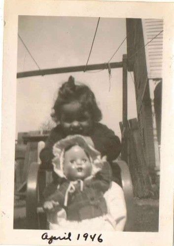 Old Vintage Antique Photograph Cute Little Girl With Her Doll