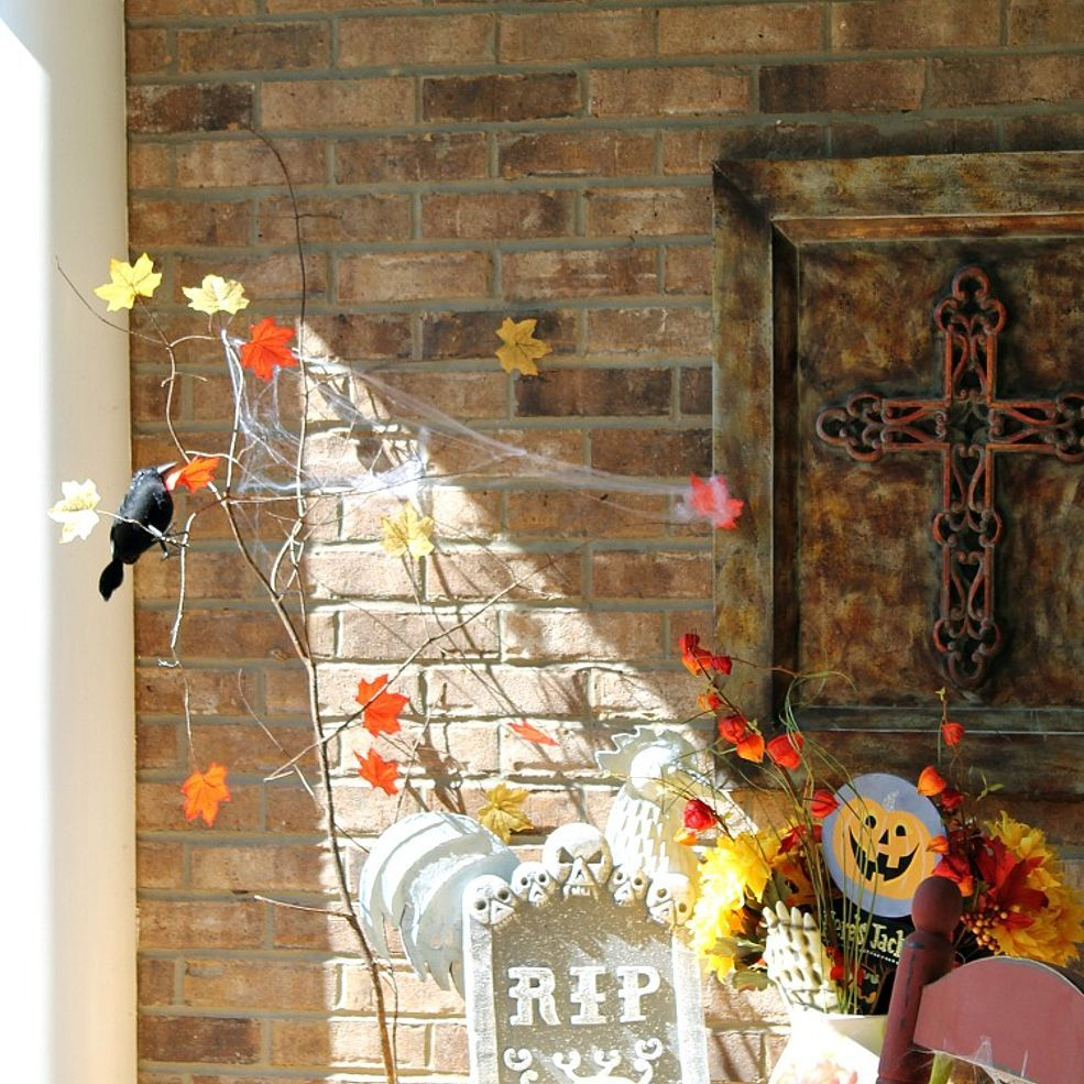 Spooky Halloween Porch With Dollar Tree Decor And More