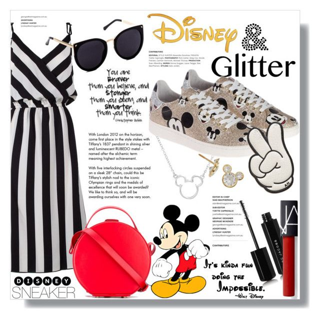 """""""A Little Disney Never Hurt Anybody"""" by mandiek-2 on Polyvore featuring Disney, Marc Jacobs, Tiffany & Co., Nico Giani, MOA Master of Arts, Anya Hindmarch, disney, sneakers, mickeymouse and SNEAKERSANDDRESSES"""