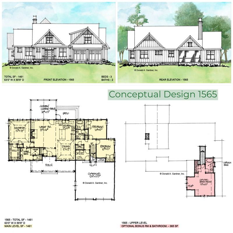 House Plan 1565 Offers Comfortable Family Living In A Modest Floor Plan Wedesigndreams Dongardner House Plans Farmhouse Unique Small House Plans House Plans