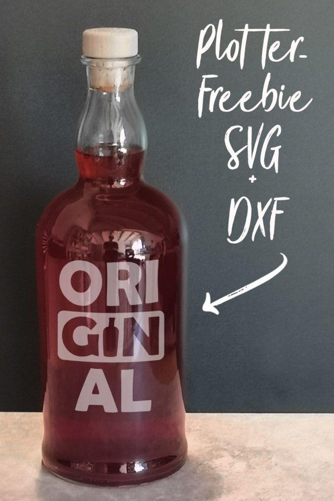 Statement-Plott für Gin-Liebhaber [Plotterfreebie SVG, DXF] – kugelig.com