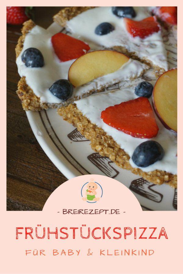 Frühstückspizza mit Haferflocken und frischem Obst #beikost #frühstück #fitness