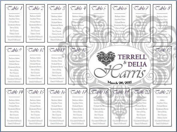 Best way for guests to find their table assignments Total - wedding spreadsheet template
