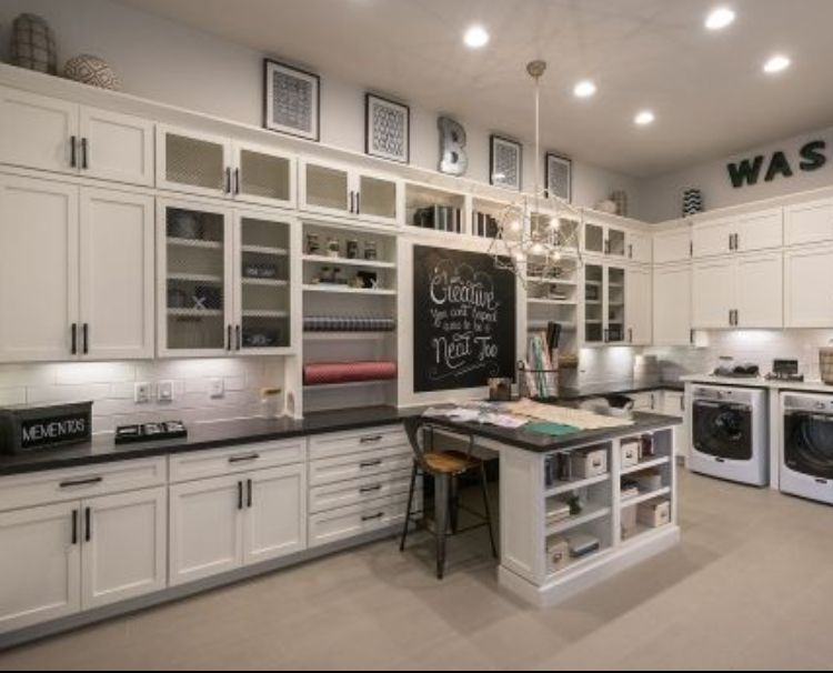 Craft And Laundry Room Together Basement Laundry Room Makeover