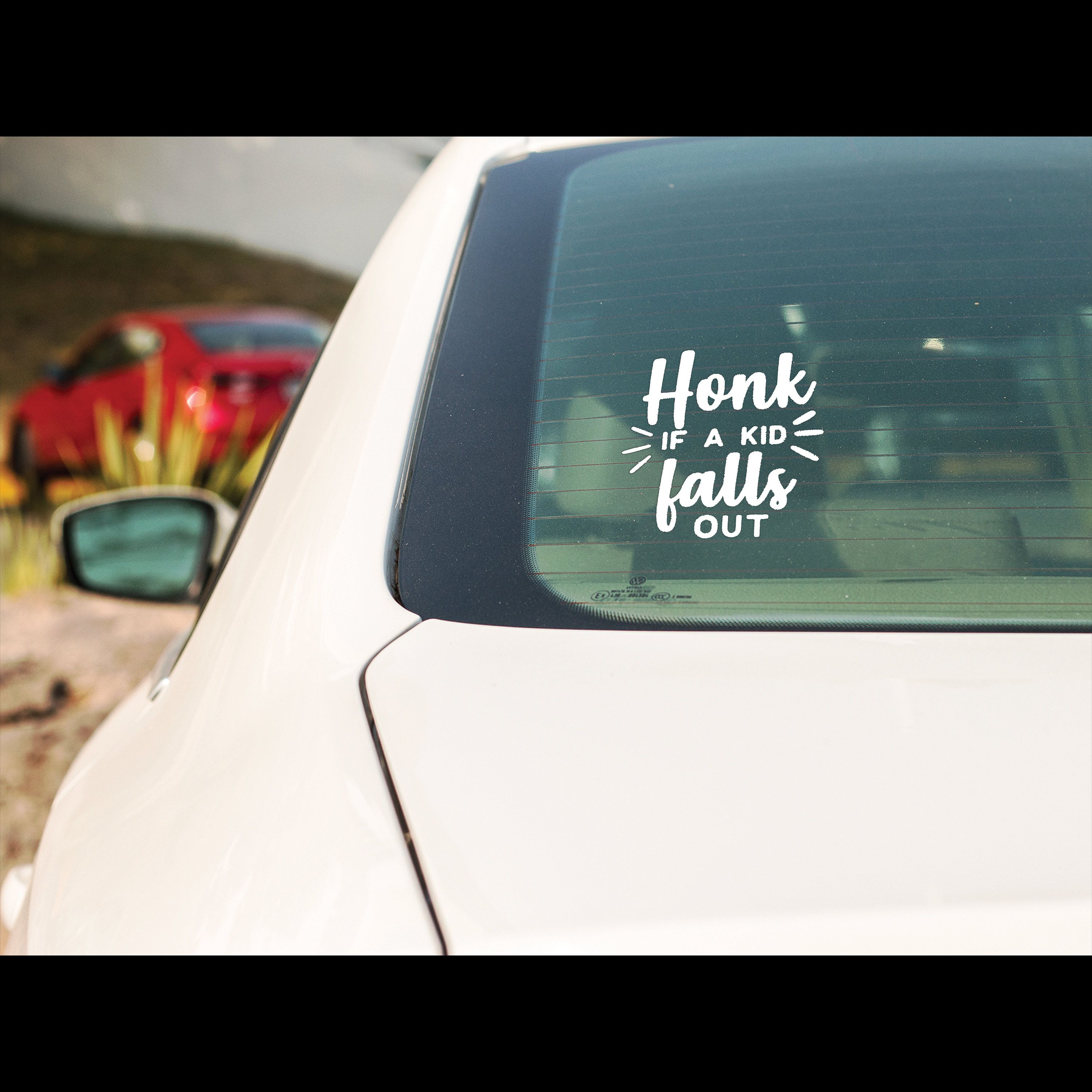 Excited To Share This Item From My Etsy Shop Honk If A Kid Falls Out Vinyl Car Decal Vinyl Sticker H Vinyl Car Stickers Car Window Decals Car Decals Vinyl [ 3000 x 3000 Pixel ]