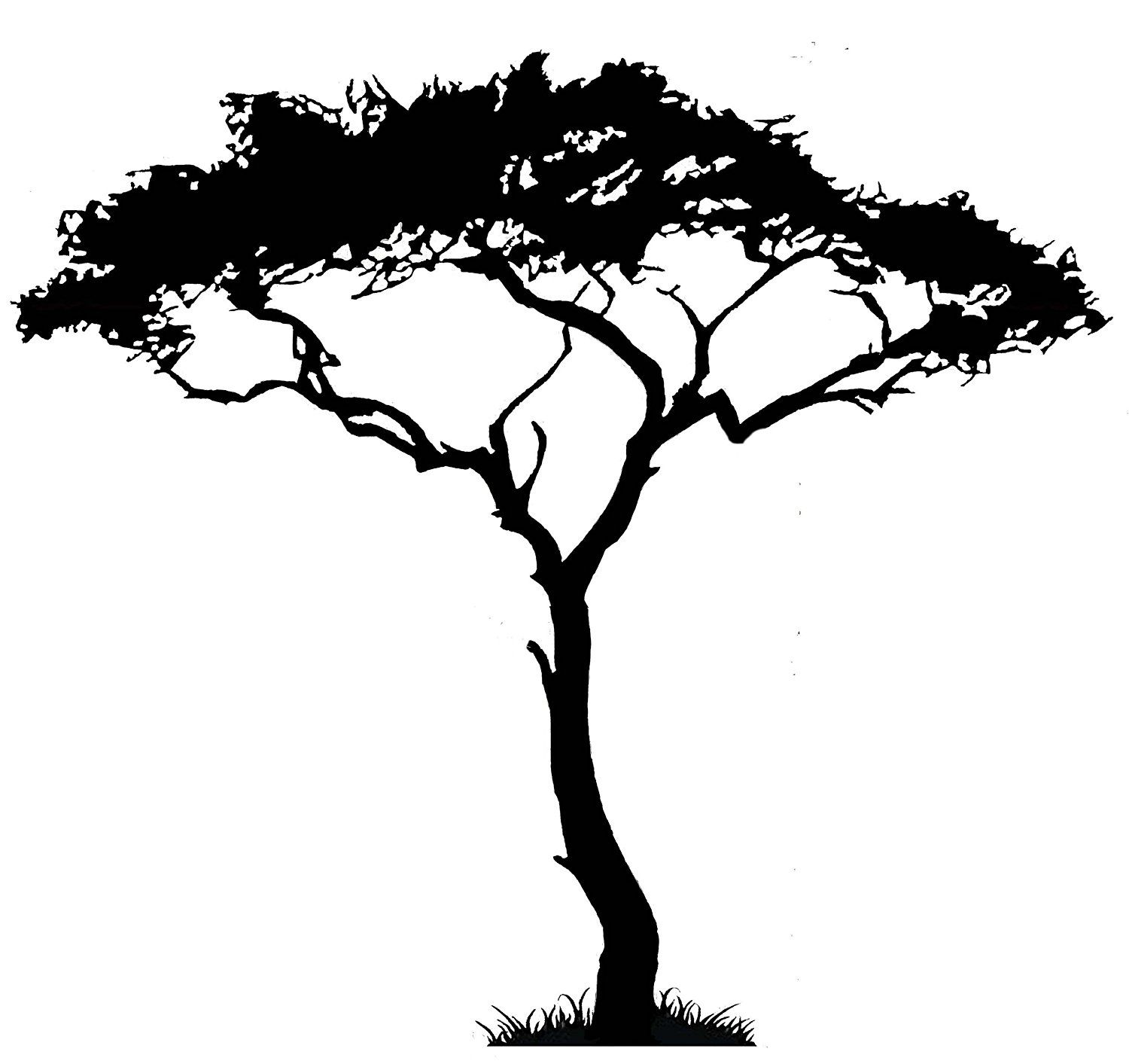 Uber Decals Vinyl Wall Decal Sticker African Tree 105 57X62