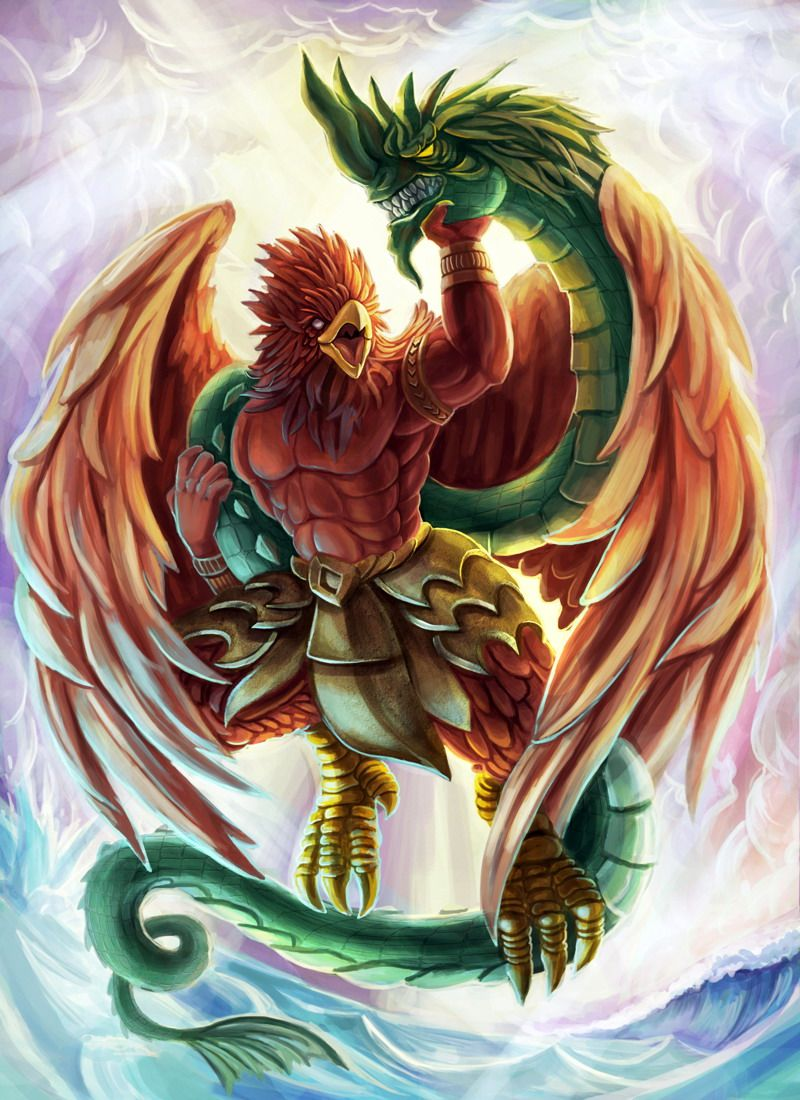 Garuda battle Naga serpent -flukekung DA   Mythical Creatures ...