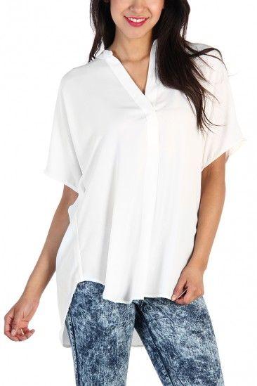 Gorgeous China Collar Blouse - white