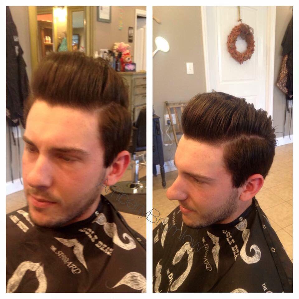 Men's pompadour haircut menus hair cuts  pompadour dapper hair cuts  hair by amberly
