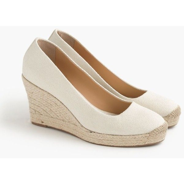 36b21ec8a06 J.Crew Seville Metallic Espadrille Wedges ( 165) ❤ liked on Polyvore  featuring shoes