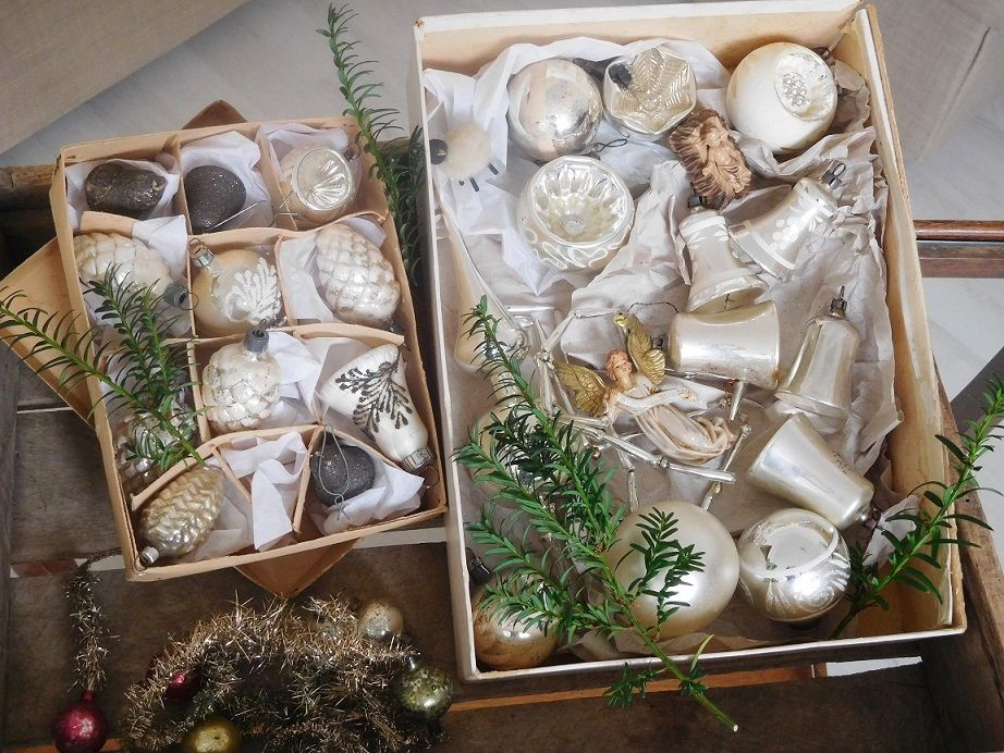 Christbaumkugeln Reflexkugeln.Alter Weihnachtsschmuck Antike Weihnachtskugeln