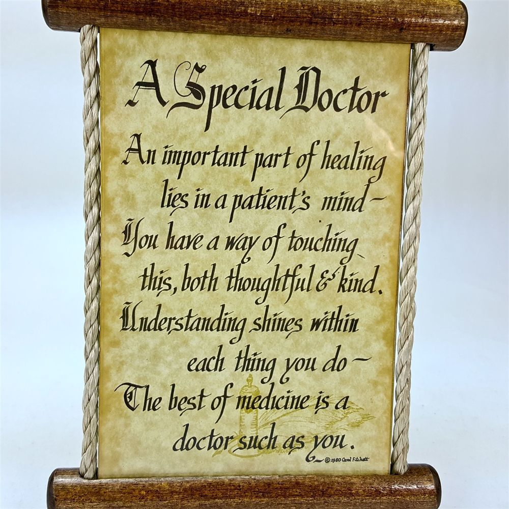 A Special Doctor Scroll Wood & Glass Rope Sign Plaque Decor MD ...