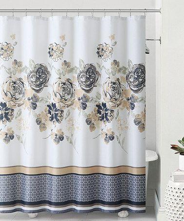 Look what I found on #zulily! Yellow & Gray Stella Shower Curtain, Hooks & Bath Rug #zulilyfinds
