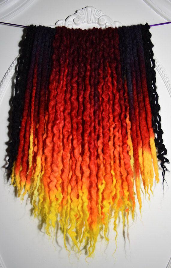 42de Quot Phoenix Quot Uv Wool Dreads 15 Quot 20 Quot Total Length 30