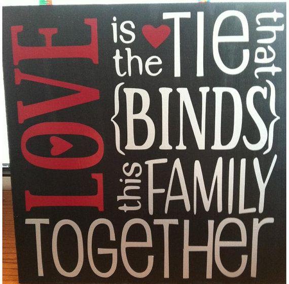 Love That Binds The Family Vinyl On Wood Via Etsy