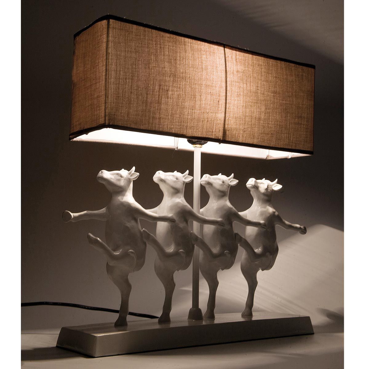 Dancing Cow Lamp by The French Bedroom Company...I mean, come on