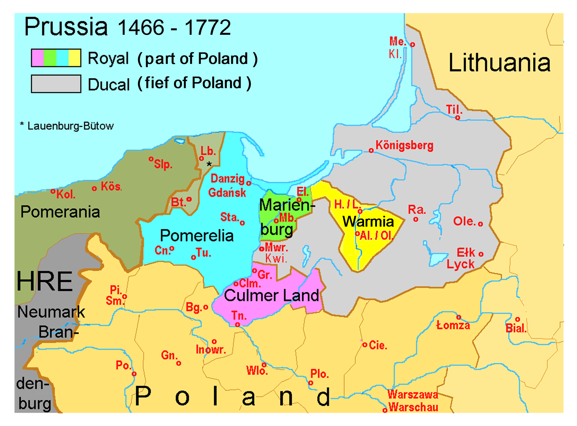 East Prussia Map 1939 East Prussia Was Formed In East Prussia