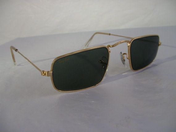 New Vintage B&L Ray Ban Classic Collection IV Rectangle Gold