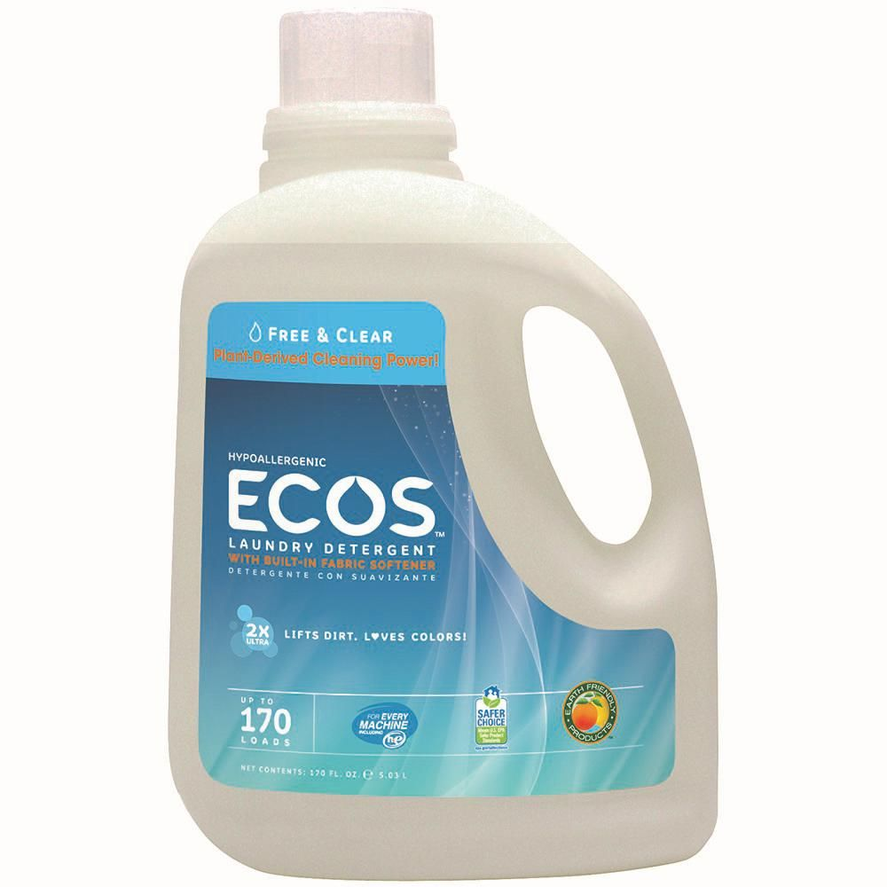 Ecos 170 Oz Free And Clear Liquid Laundry Detergent 937102
