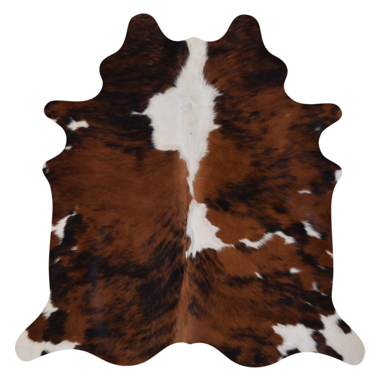 Cowhide Rug Brindle and White Cow hide rug, White