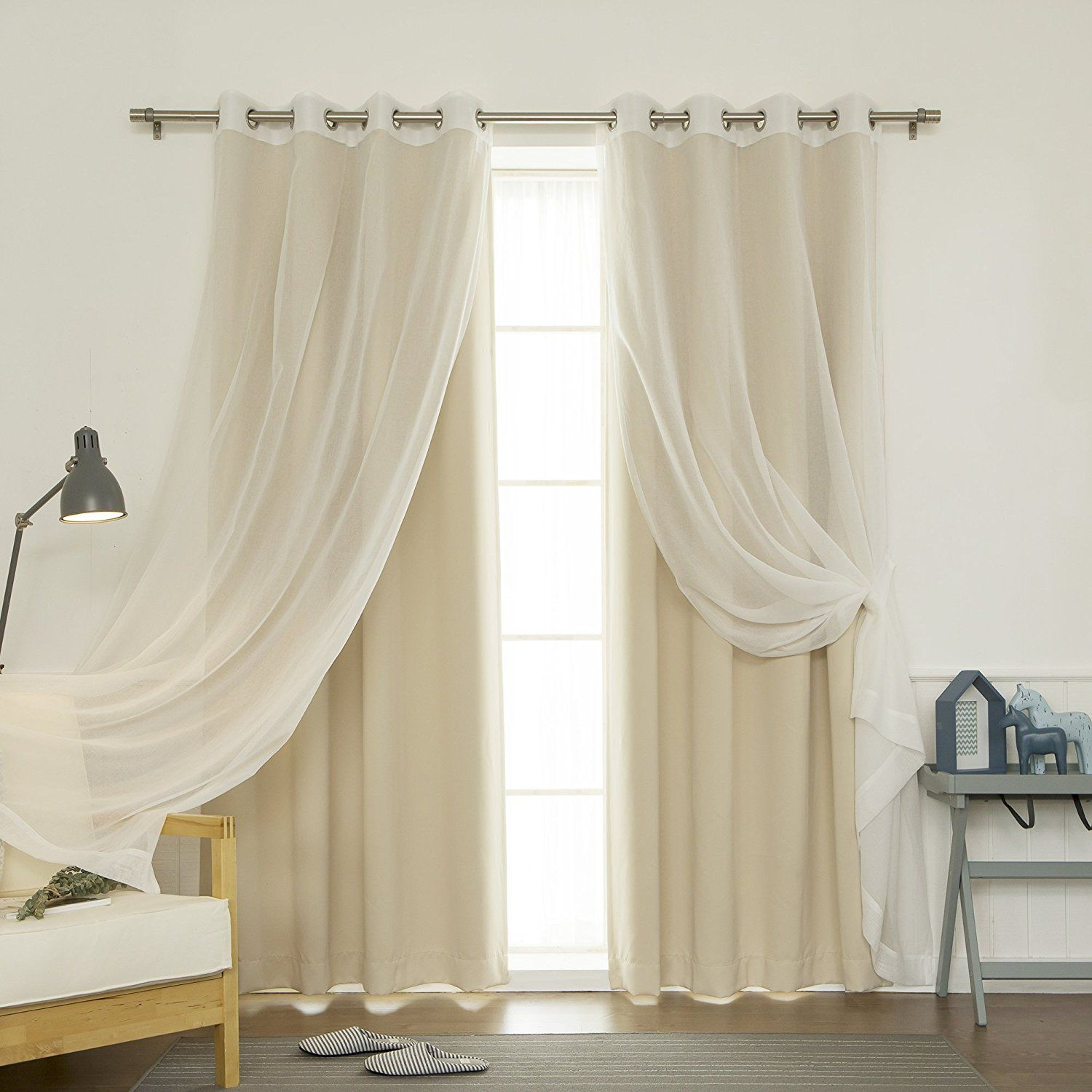 Best Home Fashion Mix And Match Muji Sheer And Blackout 4 Piece