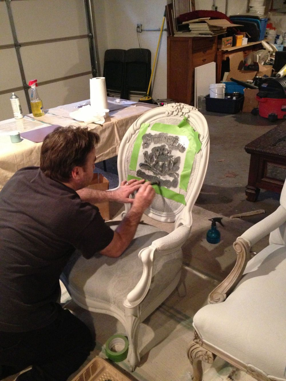 Painting Fabric With Annie Sloan Chalk Paint - Painting fabric with annie sloan chalk paint
