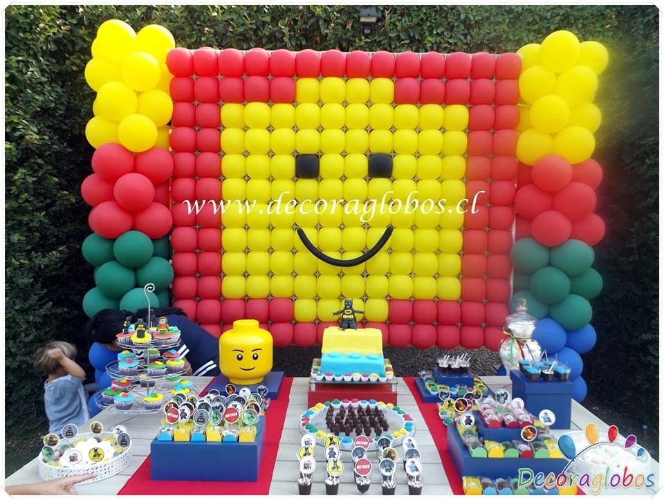 Balloon Lego Theme Wall Backdrop Columns Call It S Party Time At 618 651 1505 If You Like This Id Ninjago Birthday Party Lego Birthday Party Lego Balloons