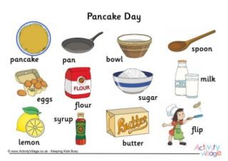 Pancake Day Vocabulary Pancakes Pancake Day Pancake
