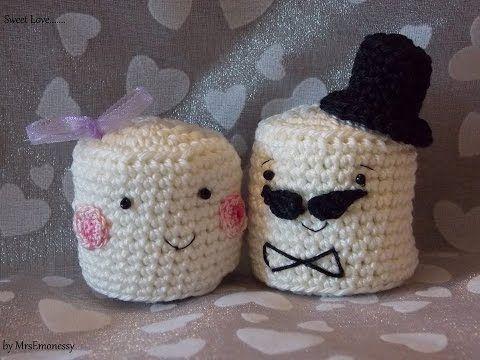 Diy Häkeln Marshmallow Brautpaar Gratisanleitung Youtube Haken