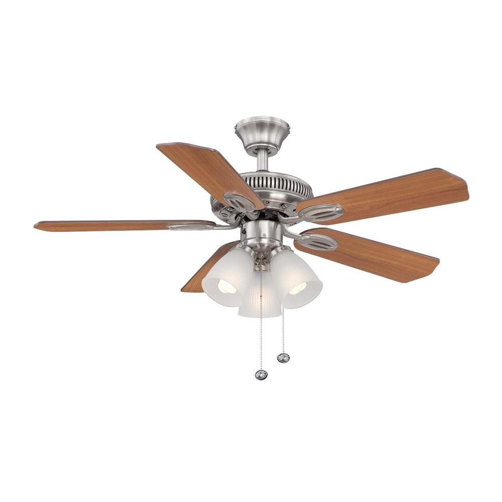 Hampton bay glendale 42 in led indoor brushed nickel ceiling fan led indoor brushed nickel ceiling fan aloadofball Choice Image