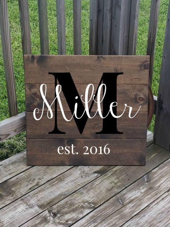 Family name wooden hanger