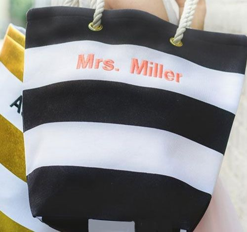 Gifts for bridesmaids - Bliss Striped Tote $15.98