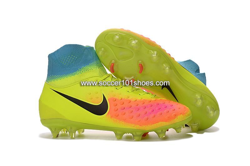 Nike Men s Magista Orden II FG Football Boots Soccer Cleats Yellow Blue Pink   76.00 e24c5f7c9