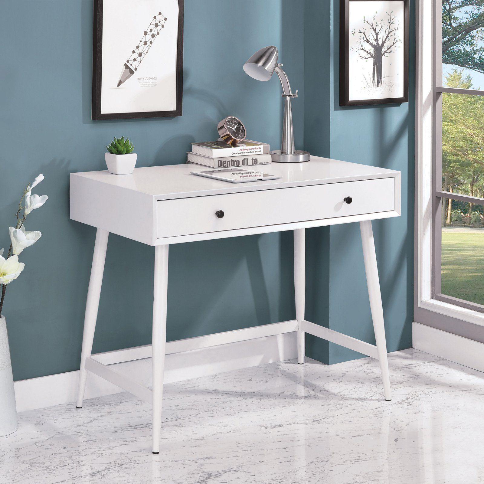 Furniture Of America Talman Mid Century Modern Writing Desk In