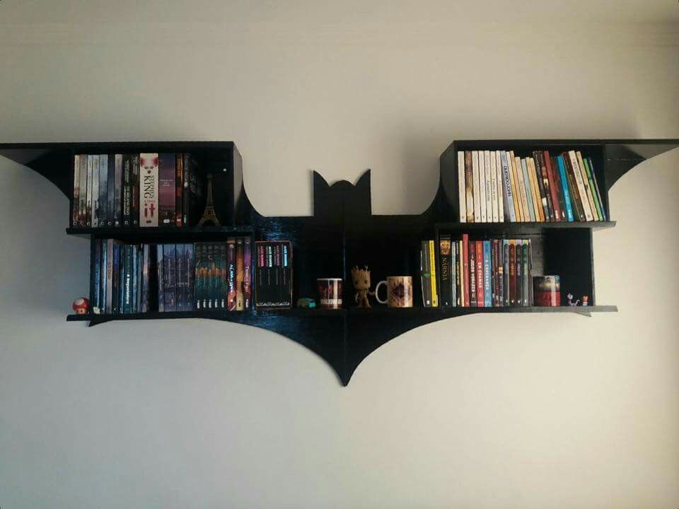 Estante Suspensa Do Batman Bookshelf Bookcase Bookshelves Room Wall