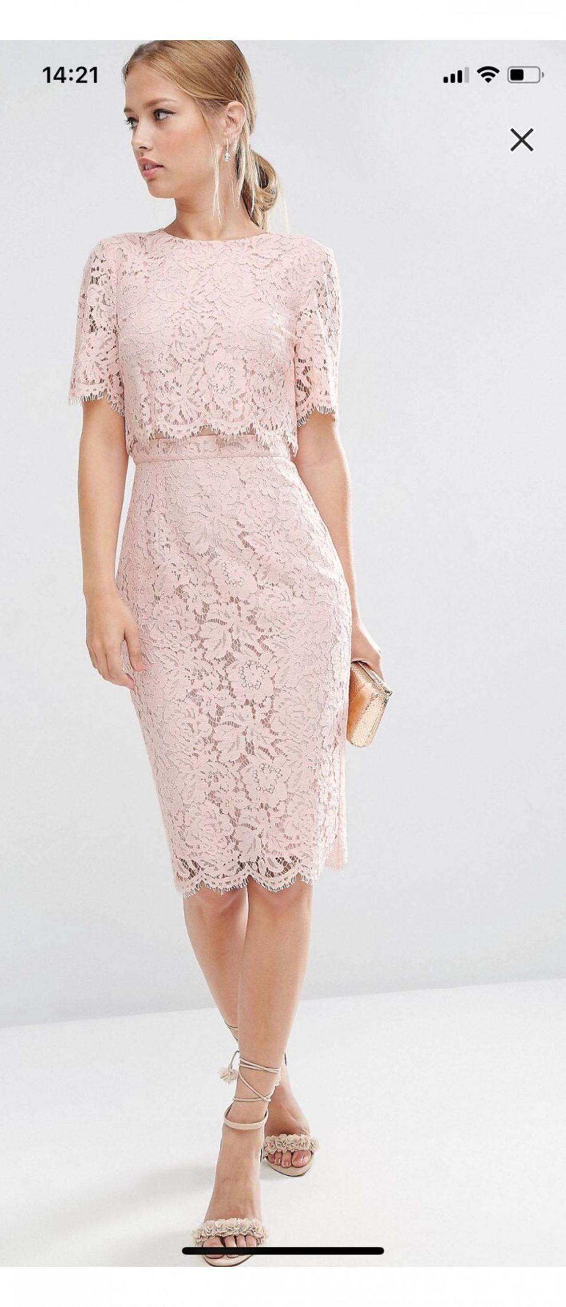 14 Kleid Rosa Spitze in 14  Kleid spitze, Asos spitzenkleid
