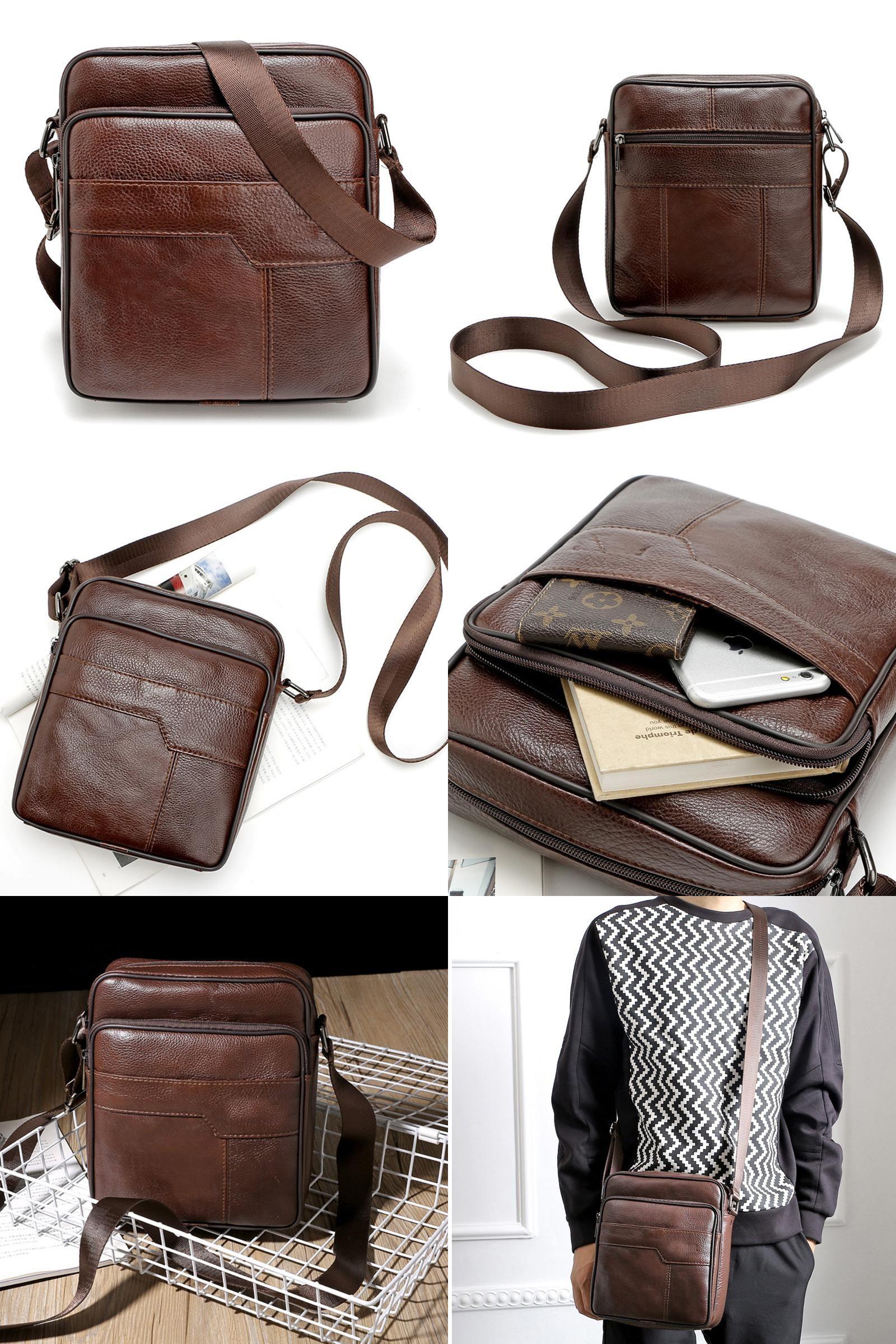 b939b2bba8  Visit to Buy  Fashion Brand Designer Handbags Men Leather Vintage Cow Leather  Bags Men