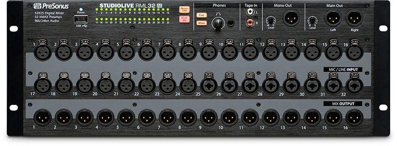 Presonus Studiolive Rml32ai Rack Mount Digitale Mixer Mixers