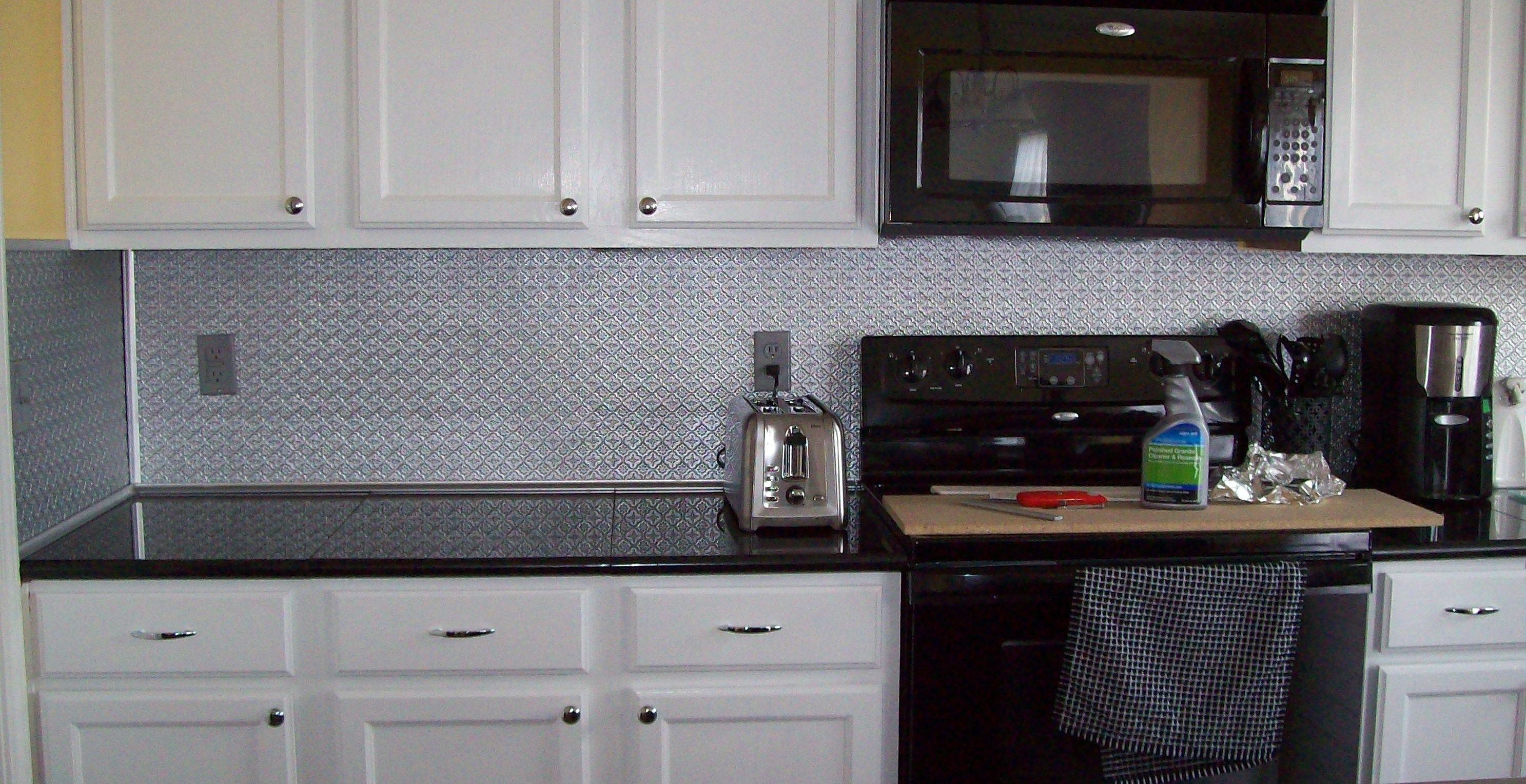 - WC20 Silver Faux Tin Backsplash Roll. Faux Tin Rolls Are Made Out
